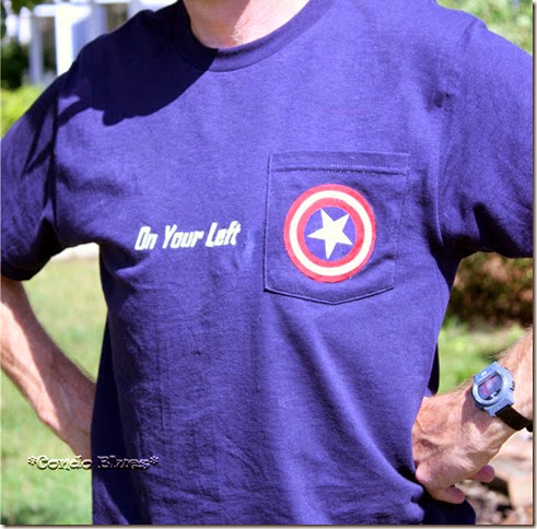 how to make Captain America Freezer Paper Stencil T shirt
