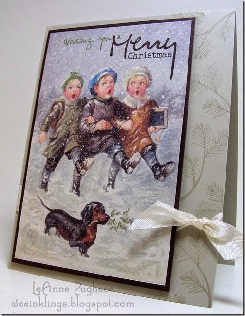 LeAnne Pugliese WeeInklings Merry Monday 143 Vintage Carolers Large