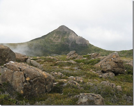 Mount Sarah Jane with cliffs