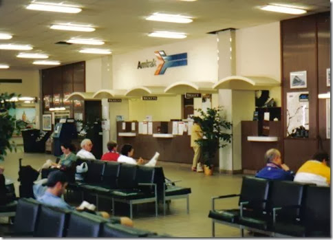 Ticket Counter at the Amtrak Station in Milwaukee, Wisconsin in May 2003