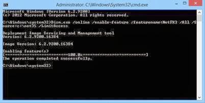 cara mengaktifkan net framework windows 8.1