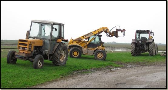 Tractors at Cockerham Sands