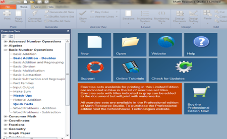 การสร้างใบงานด้วย Math resourcer worksheet