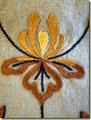 stylized iris embroidery