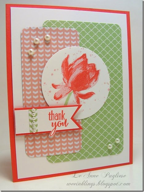 LeAnne Pugliese WeeInklings Lotus Blossom Stampin Up
