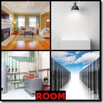 ROOM- 4 Pics 1 Word Answers 3 Letters