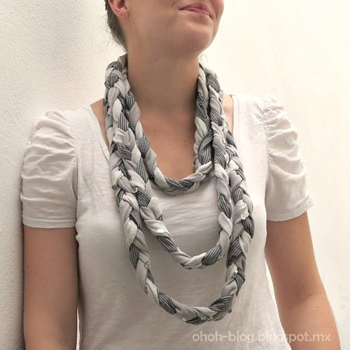 Braided Scarf using Old T-shirts