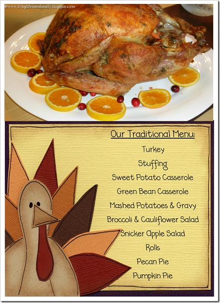 Thanksgiving Dinner Menu, Recipes, Timeline, and free grocery list