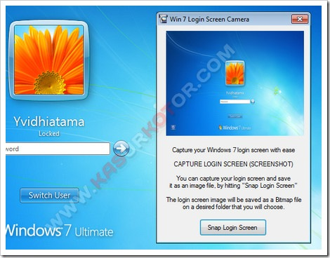 Mengambil Screenshot Tampilan Logon Screen Windows 7