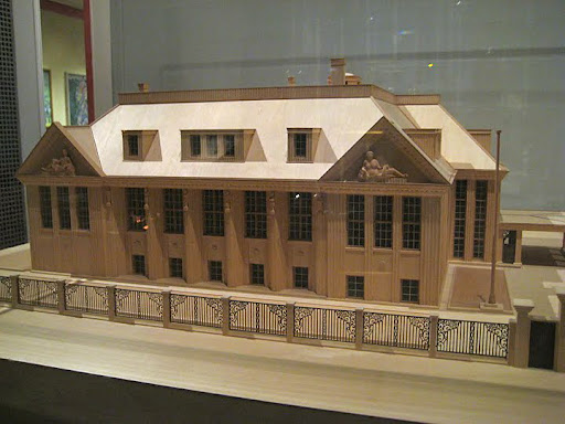 Vienna 1900, the last exhibition, highlights a period of Modernist thought. The sanitarium was a popular development of the time — a reproduction of one is pictured here.
