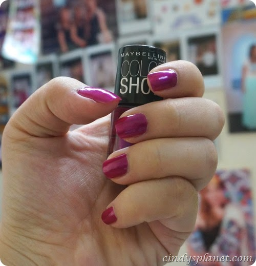 maybelline show stopper nail polish review1