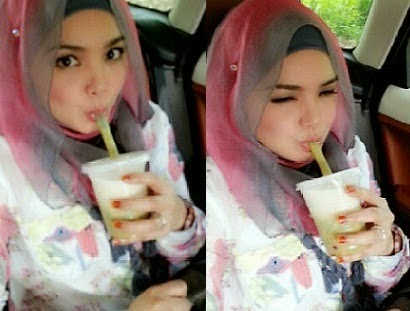 Gambar Datuk K Baring Berbantalkan Paha Gebu Dato Siti Nurhaliza