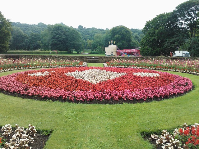 Flower beds on display