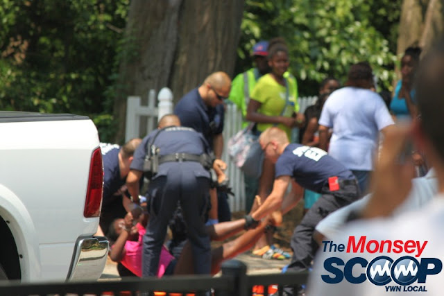 Child Struck By Vehicle In Spring Valley On Memorial Park Dr (Moshe Lichtenstein) - IMG_4513.JPG