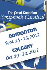 2012 Great CDN Scrapbook Carnival - Edmonton& Calgary  Banner_160x 240