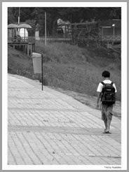 indo para a escola