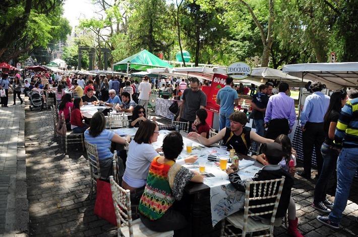 feira gastronomica curitiba praca espanha