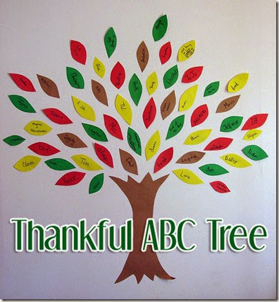 Thankful ABC Tree #thanksgiving #fall #preschool