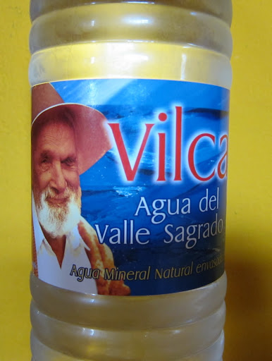 Vilcabamba Mineral Water, featuring one of the town's older inhabitants