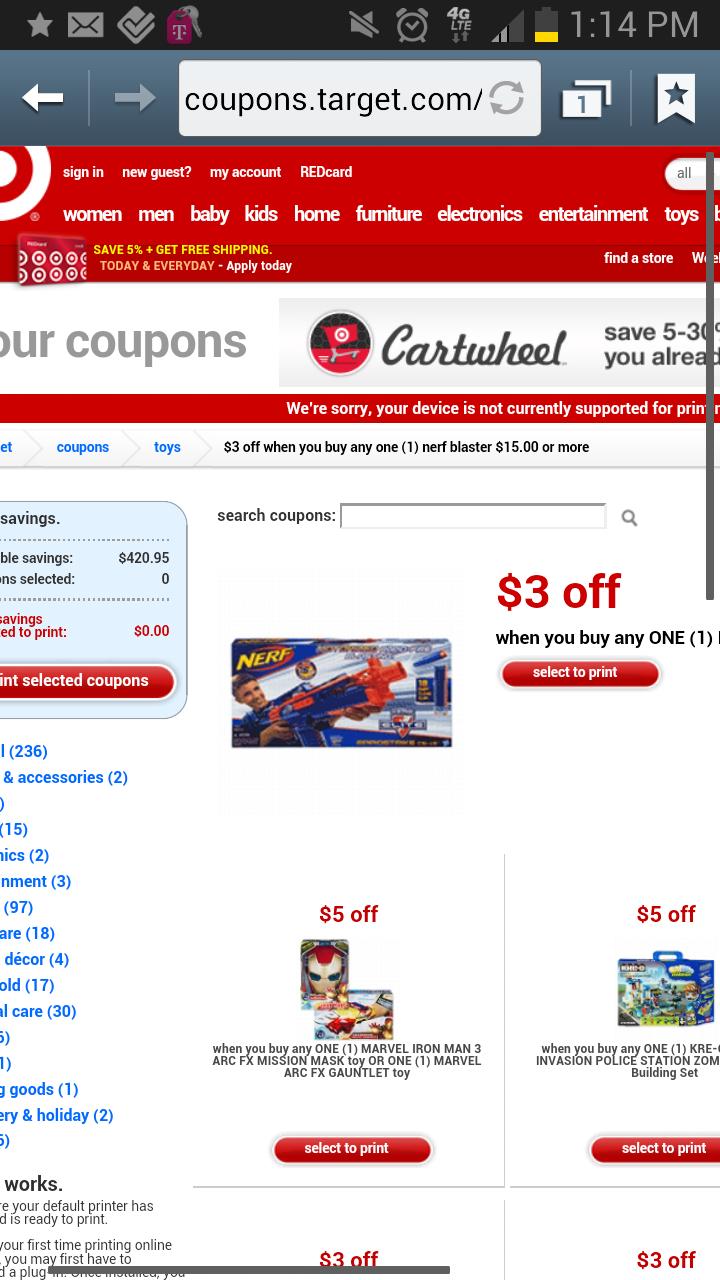 Nerf coupons printable