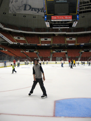 Erik on the ice at Civic Arena.