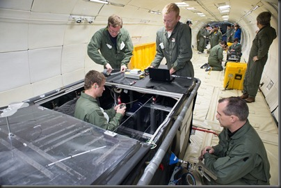PHOTO DATE: 02-28-13<br />LOCATION:  Ellington Field - Zero-G Corp 727<br />SUBJECT:  Reduced Gravity Office's research flight week. Flight 3<br />PHOTOGRAPHER: BILL STAFFORD
