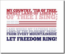 My country, tis of thee