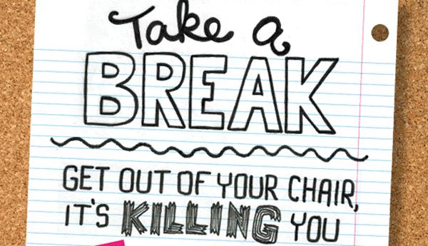 [Infographie] Travailler tue! Prenez un break …