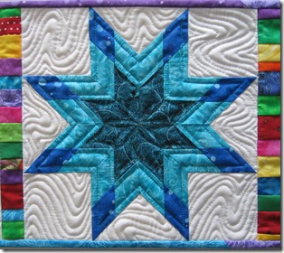 Closeup Blue star