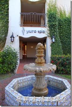花蓮-理想大地渡假村。爬牆虎、噴水池、弧形的建築充蠻濃濃的地中海風情。