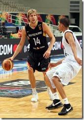 Dirk Nowitzki Jeff Xavier Cape Verde v Germany PGc_W_DU27Sl