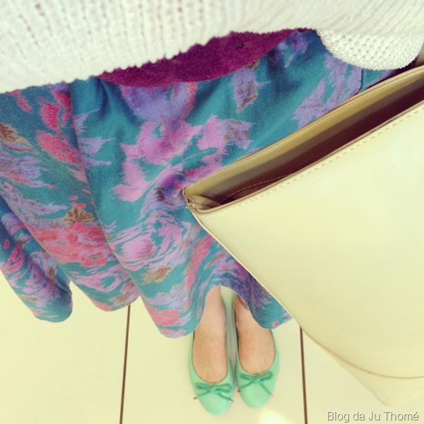 look saia floral estampada e tricot branco (2)