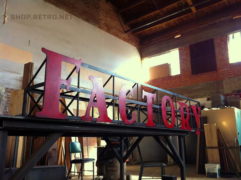 Signage Vintage Industrial Furniture