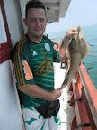 Cação pescado por Reinaldo na Praia Grande SP