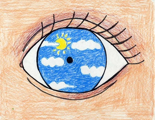 Magritte Eye Art for kids