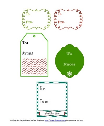 Holiday To-From Gift Tag Printable - The Silly Pearl