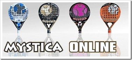 MYSTICA Pádel comenzará a comercializar sus palas a través de su propia tienda oline en la red.