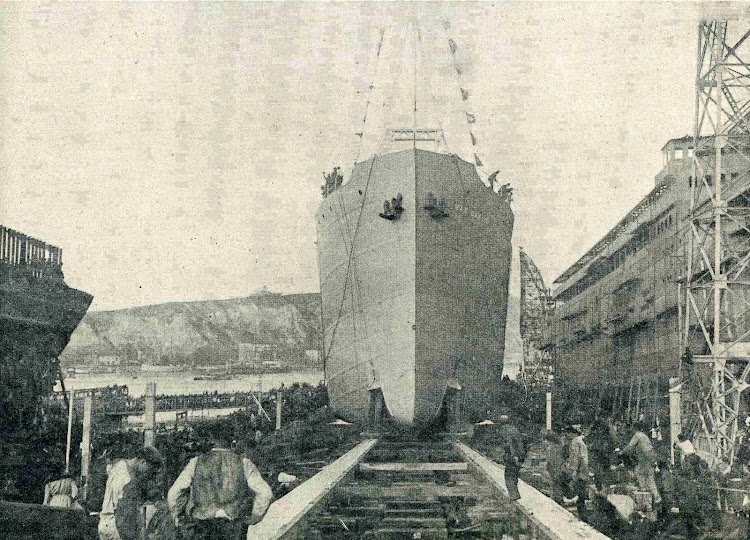 Botadura del MAR CARIBE. De la revista CATALUNYA MARITIMA. Año 1920.jpg