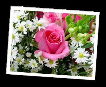 Immagine con delle rose e delle margherite