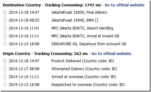 Tracking order Banggood