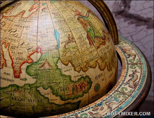 4 старинный глобус