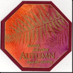 octagonal scrapling autumn