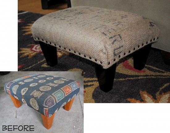 friday feature burlap sack covered ottoman from sas interiors