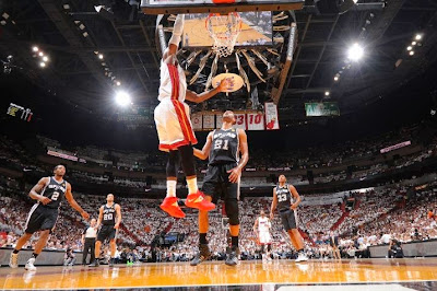 lebron james nba 140612 mia vs sas 21 game 4 Spurs Win Two Straight in Miami. Lead the Series 3 1.