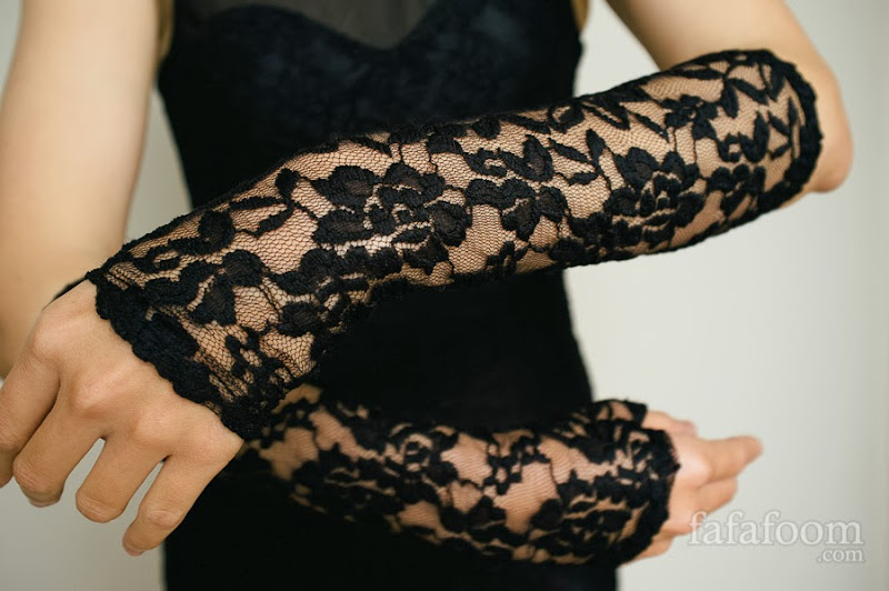 DIY Black Lace Dress with Fringe