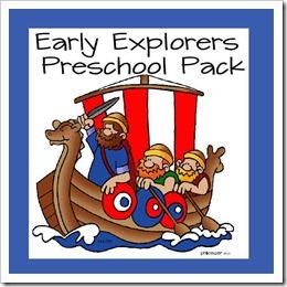 FREE early explorers preschool pack #preschool