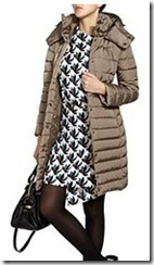 Moncler Taupe Down Coat