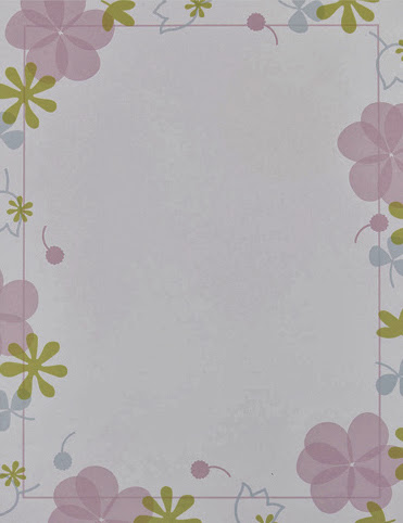Sweet blossoms flowers spring floral paper stock 2
