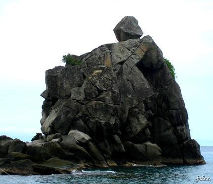 rock formation, apo island