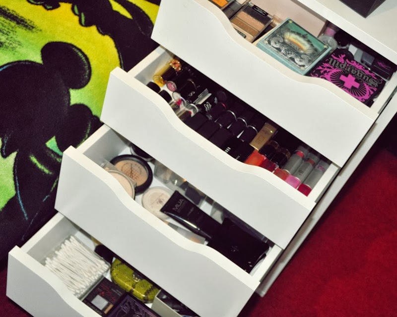 ikea alex makeup storage2edit